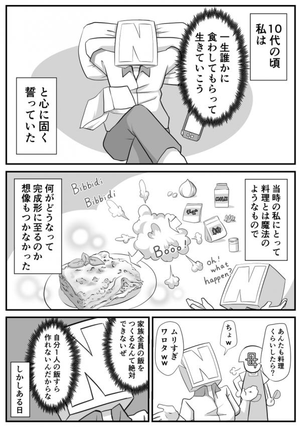 漫画「私が料理を始めた理由」①