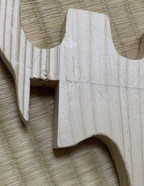 へこみのある木材