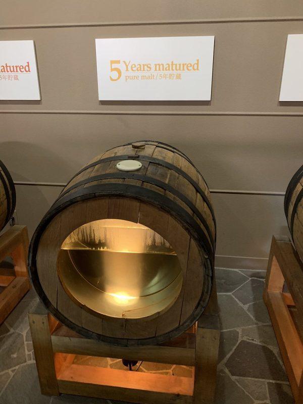 5年貯蔵したウイスキー