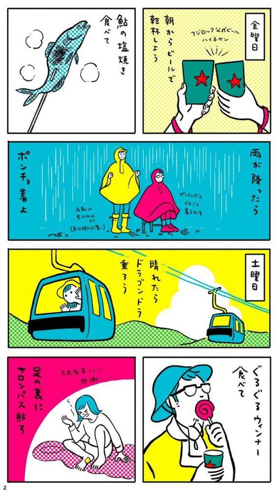漫画2枚目 1日目〜2日目
