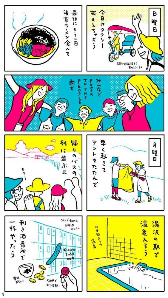 漫画3枚目 3日目〜帰路