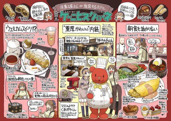 「ホテルケーニヒスクローネ神戸」の紹介イラスト