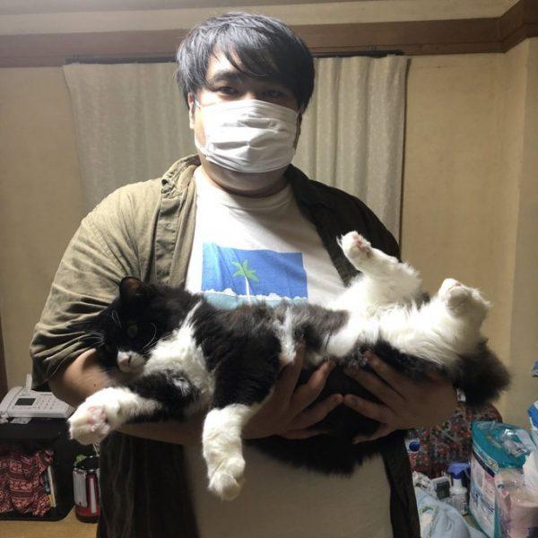 スカート澤部渡さんと猫